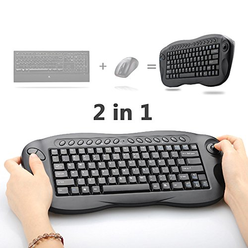 Wireless Trackball Keyboard Oley 24 GHz 2in1 Mouse Computer TV Box Remote Control Support PC Xbox 360 PS3 HTPC IPTV MAC With