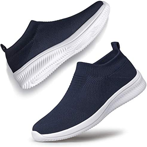 SILLENORTH Women Sneakers Fashion Light Weight Breathable Air Cushion Slip on Walking Shoes Running Shoes Athletic Shoes