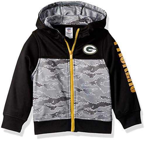 NFL Green Bay Packers Unisex Hooded Jacket, Black, 4T