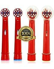 Drkao 12 Pack Tandenborstelkoppen met 2 Hoofden Cover Kinderen Tandenborstelkoppen Kids Gemaakt met Hoogwaardige Dupont Nylon Elektrische Tandenborstelkoppen voor Kinderen Standaard voor Orale b Elektrische Tandenborstelkoppen