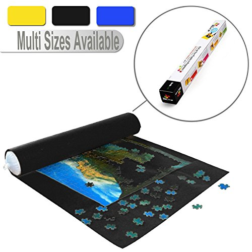 Lavievert Black Felt Mat for Puzzle Storage Puzzles Saver, Long Box Package, No Folded Creases