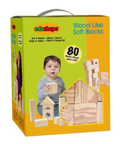 Edushape Ltd Edushape Wood Like 80 Piece Soft Blocks, Wood, Baby & Kids Zone