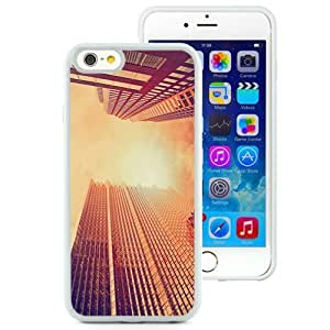 NEW Unique Custom Designed iPhone 6 4.7 Inch TPU Phone Case With Look Up Skyscrapers Sunset_White Phone Case