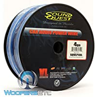 Soundquest SQVLP4BL CCA Power Wire, Vinyl Matte Blue