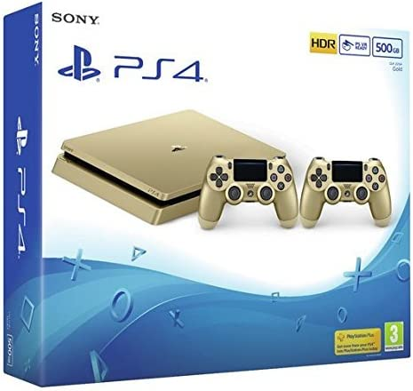 PlayStation 4 Slim D-chassis (500GB) Gold Console with 2 ...