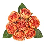 Louiesya-Artificial-Flowers-Bouquet-Silk-Roses-7-Flower-Heads-Fake-Flowers-Bridal-Wedding-Bouquet-for-Home-Garden-Party-Floral-Arrangements-Floral-Table-Centerpieces-Kitchen-Party-Decor-DIY-Orange