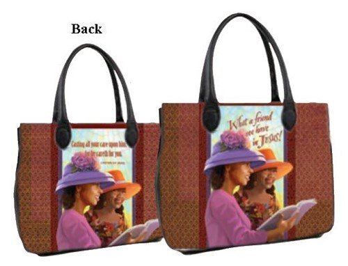 Bible Covers African (What a Friend We Have in Jesus by Laurie Cook - African American Bible Bag)