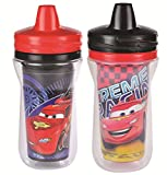 The First Years 2 Pack 9 Ounce Insulated Sippy Cup, Cars/Pattern May Vary (Color and design may vary)