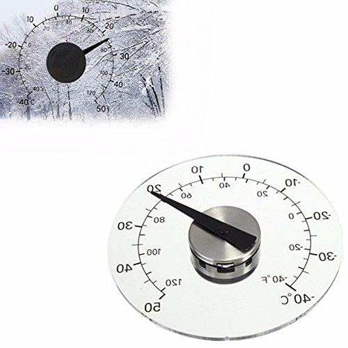 4.33 Inch Thermometer Transparent Round Circular Window Temperature Thermograph / 4.33 Inch Thermometer Transparent Round Circular Window Temperature Thermograph . . s: . Temperature shown in