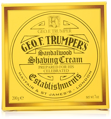 Trumper Almond Shaving Cream - Geo F. Trumper Sandalwood Soft Shaving Cream Jar