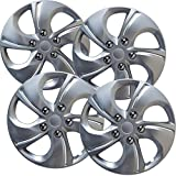 #7: OxGord Hubcaps for 15 inch Standard Steel Wheels (Pack of 4) Wheel Covers - Snap On, Silver