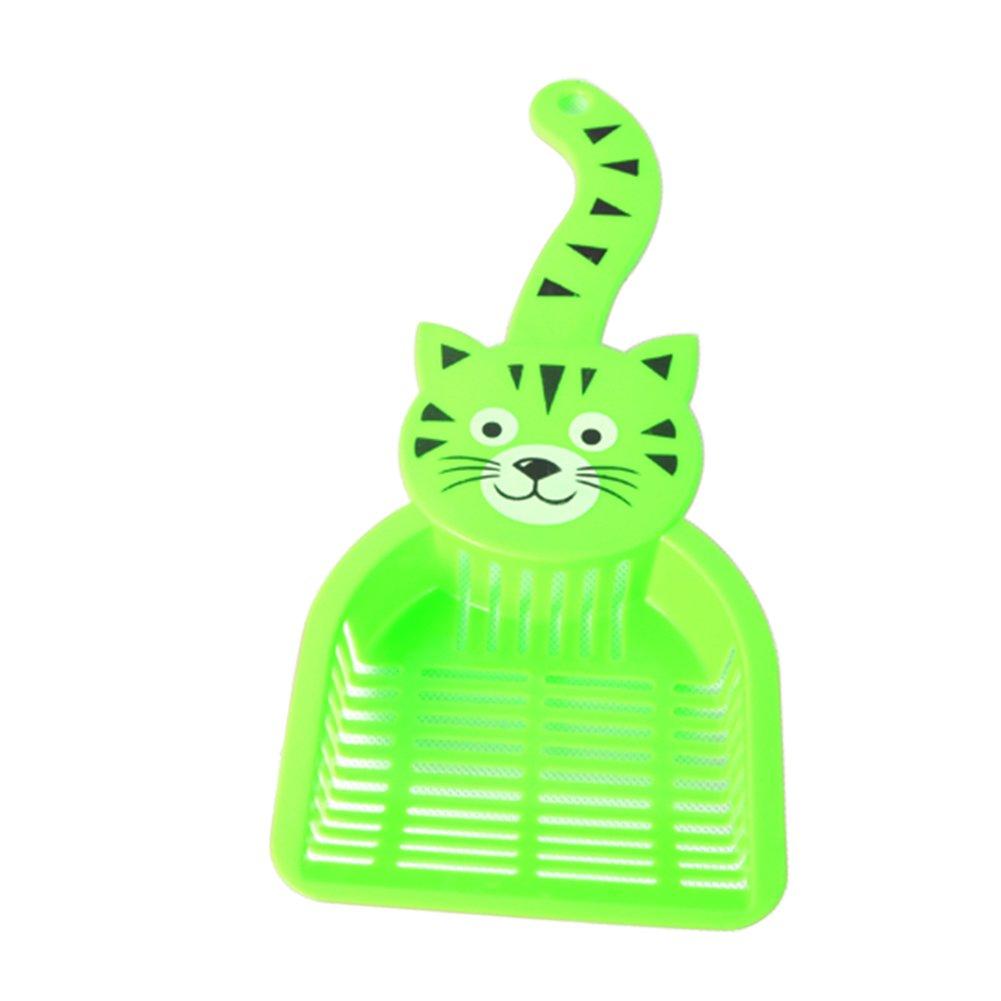hwangli Lovely Plastic Litter Scoop Pet Cat Sand Waste Scooper Shovel Cleaning Tool - Green