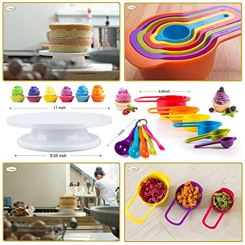 Whryspa All-in-One Cake Decorating Kit Supplies with Revolving Cake Turntable, 24 Cake Decorating Tips, for Cake Decoration Baking Tools by Whryspa (Image #5)