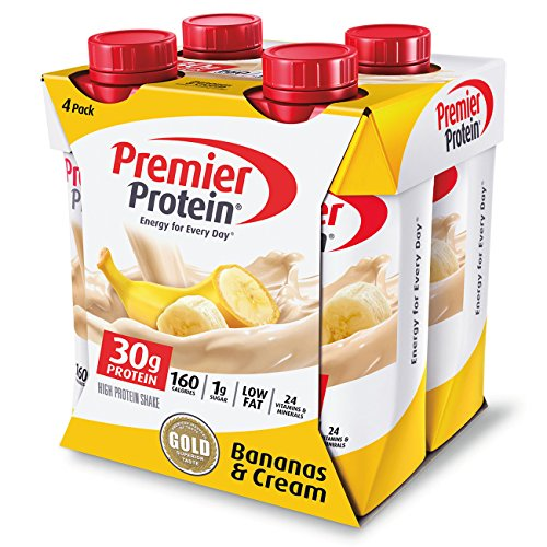 Premier Protein 4 Count Bananas and Cream Shake, 11 Fluid Ounce