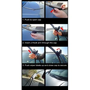 """19"""" + 24"""" Front Windshield Wiper Blades Combo Rain Guard Technology Replacement"""