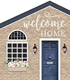 P Graham Dunn Welcome Home Brick Look House Shaped 5.5 x 6 Inch Pine Wood Block Tabletop Sign