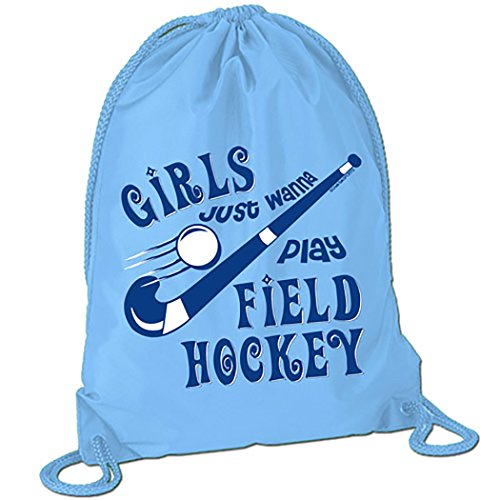 c343383c02e3 Girls Just Wanna Play Field Hockey Sport Pack Cinch Sack | Field ...