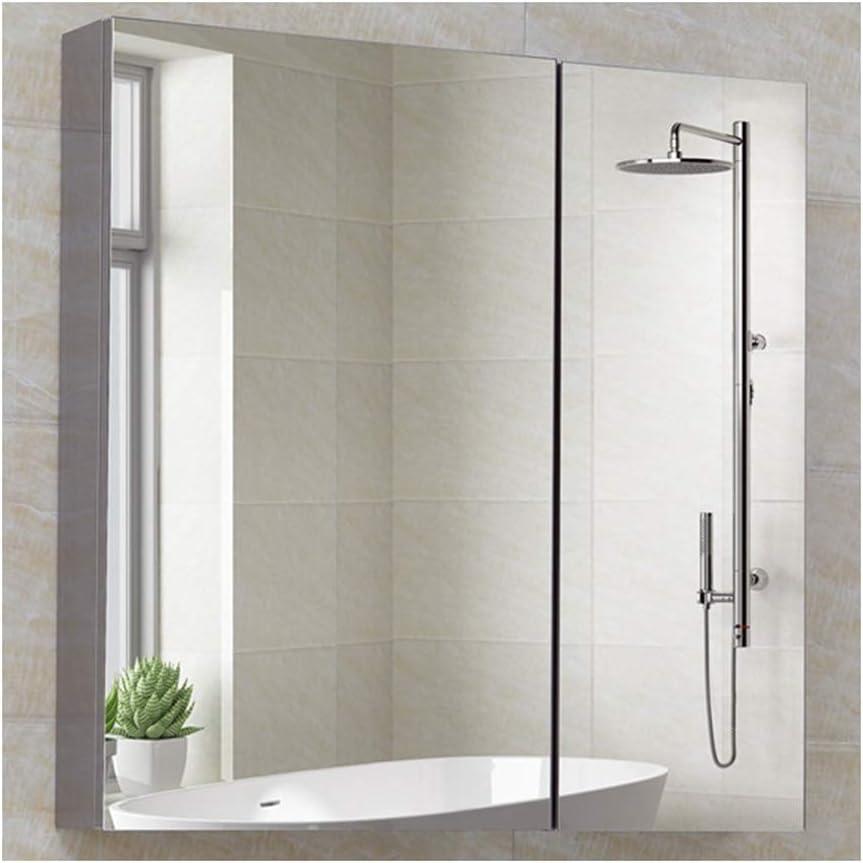 LYXDZW Espejo de baño Armarios con Espejo para Baño, Acero Inoxidable Armario De Baño, con Espejo, con Estantes, Fácil De Limpiar (Color : 60x80x13cm): Amazon.es: Hogar