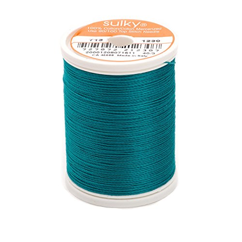 (Sulky Of America 660d 12wt 2-Ply Cotton Thread, 330 yd, Dark Teal)