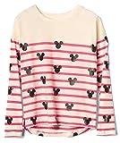 Gap Kids Girls Disney Mickey Mouse Striped Hi-Lo Tee Shirt XL 12