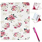 iPad Case, iPad 2/3/4 Case Firefish [Kickstand] [Card Slots] Slim Flip PU Leather Wallet [Shock Absorption] Scratch-Resistant Protect for Apple iPad 2/3/4 - Flower
