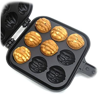Taiyaki Walnut Shaped Waffle Maker 9 Walnut Waffles with English Recipe