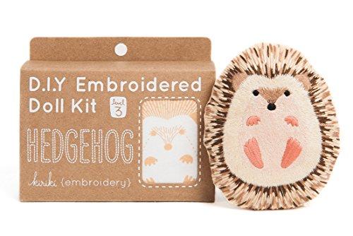 DIY Embroidered Doll Kit (Hedgehog - Level 3)