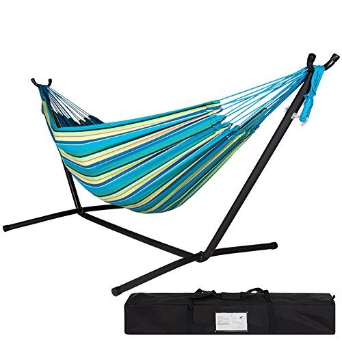 Lazydaze Hammocks Double Hammock with Space Saving Steel Stand