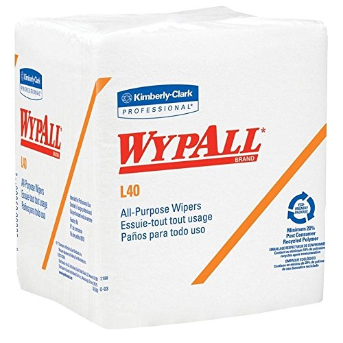 (Wypall L40 1/4-Fold White Wipes, 12.5