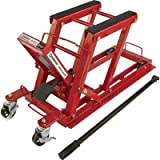 Strongway Hydraulic Motorcycle Jack/Utility Vehicle Lift - 1,500-Lb. Capacity, 5 1/8in.-16 1/8in. Lift Range