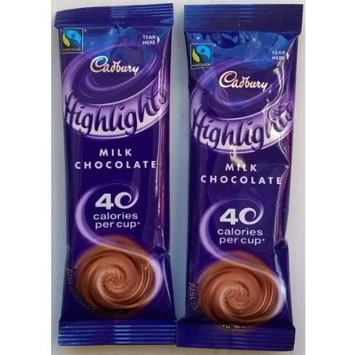 20 Cadbury Highlights Milk Chocolate Individual Sachets