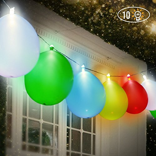 LED Luminous Balloons Lights String Glowing Balloons light for Kid Christmas Party, Birthday, Wedding, Festival, Club, Bar, Concert 10 (Pack)