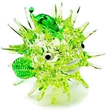 Aquarium MINIATURE HAND BLOWN Art GLASS Green Turtle FIGURINE Collection .. New