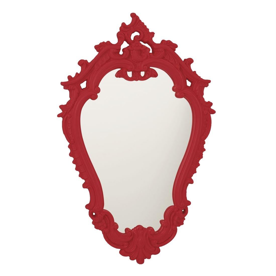 BrylaneHome Hazel Victorian Style Mirror (Red,0)