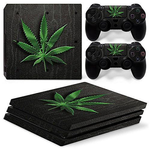 FriendlyTomato PS4 Pro Console and DualShock 4 Controller Skin Set - Weed 420 - PlayStation 4 Pro Vinyl (Weed Controller Skin Ps4)