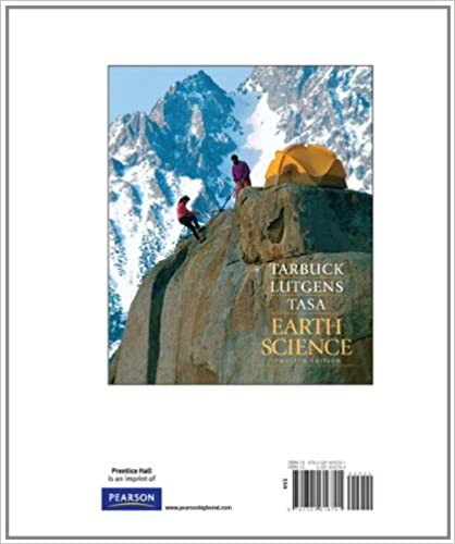 Earth: an introduction to physical geology 12, edward j. Tarbuck.