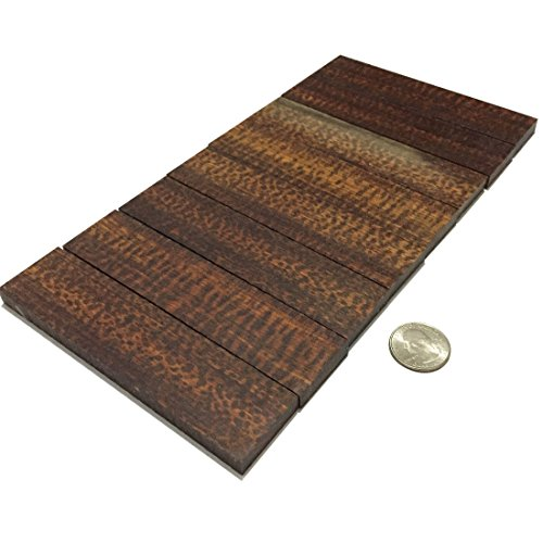 1 Pair Snakewood Knife Handle Scale Knife Blank Grip Sheet 32x130x8mm ()