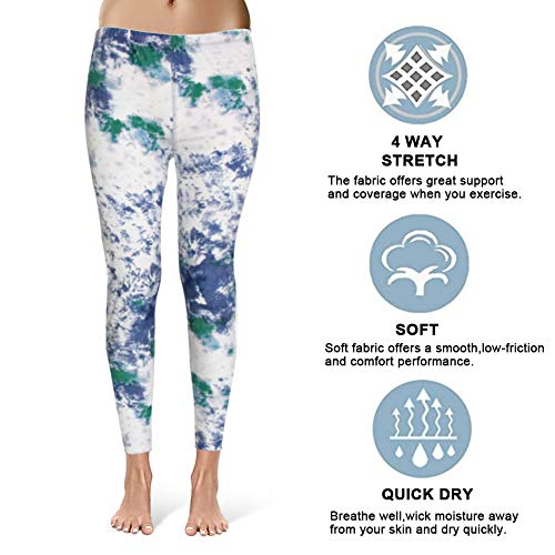 High Waisted Leggings for Women - Ultra Soft Stretchy Workout Pants – Reg/Plus Size (Ink Pattern, Plus Size (12-24)) by Syrinx (Image #3)
