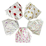 Babyfriend Infant Baby Girl's Cotton Toilet Potty Training Pants 5 Pack of Waterproof Cloth Diaper Underpants