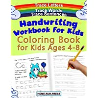 Handwriting Workbook for Kids Coloring Book for Kids Ages 4-8: Trace Letters