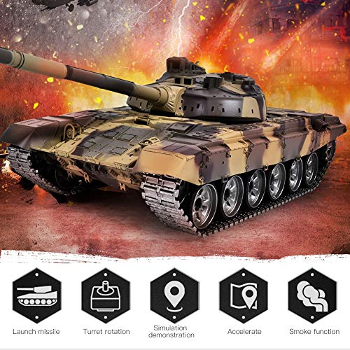 Remote Control Tank, 2.4G 1:16 Metal Crawler Vehicle Simulation Toy Model, 360° All-Round RC Battle Walker Tank…