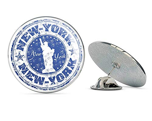 (New York USA Round Metal 0.75