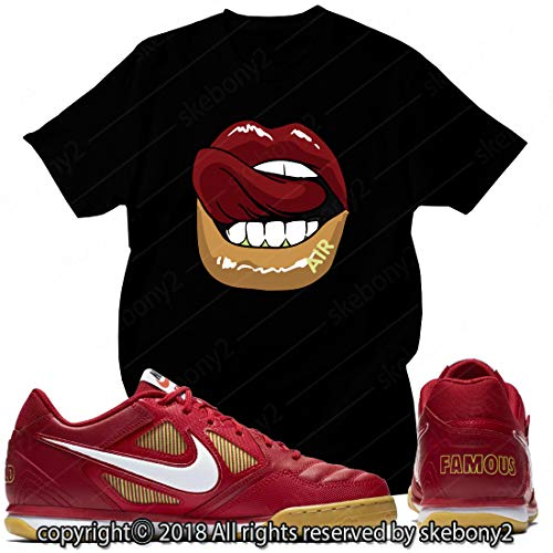 Custom T Shirt Matching Style of SB GATO Supreme RED SG 1-2-28-BLACK-M (Sb Supreme)