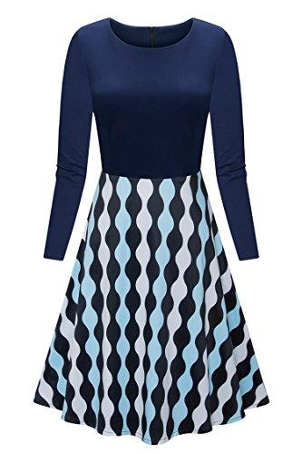 long sleeve a line cocktail dress - 3