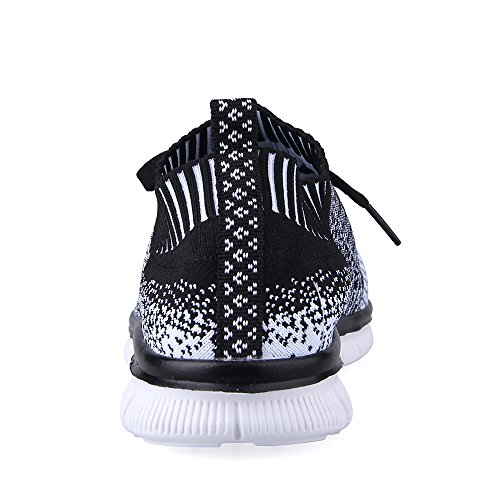 eyeones Mens Shadow Knit Sneaker Lightweight Running Shoes Walking Breathable Athletic Casual Shoes Black d8RZrR6xG