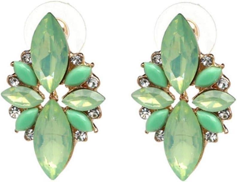 XCWXM Pendientes Pendientes Femeninos De Moda Pendientes De Cristal Pendientes De Moda Flores De Goteo