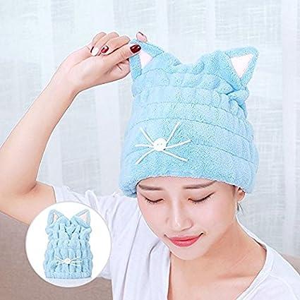 Toalla de baño de secado rápido para el cabello, toalla de pelo de secado rápido