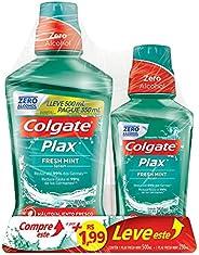 Enxaguante Bucal Colgate Plax Fresh Mint 500ml - Colgate Plax IceFusion 250ml