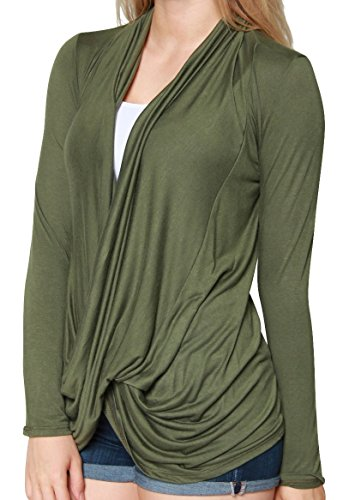 Free to Live Womens Lightweight Criss Cross Pullover Nursing cardigan Top