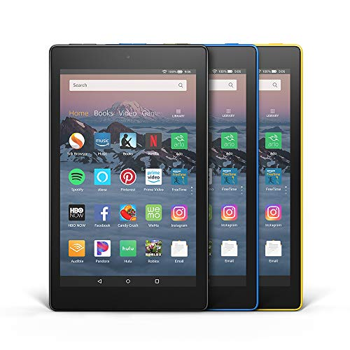 All-New Fire HD 8 3-Pack, 16GB - Includes Special Offers (Black/Marine Blue/Canary Yellow)